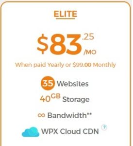 Elite Plan WPX Hosting