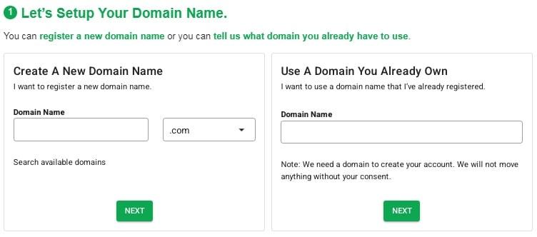 GreenGeeks Domain